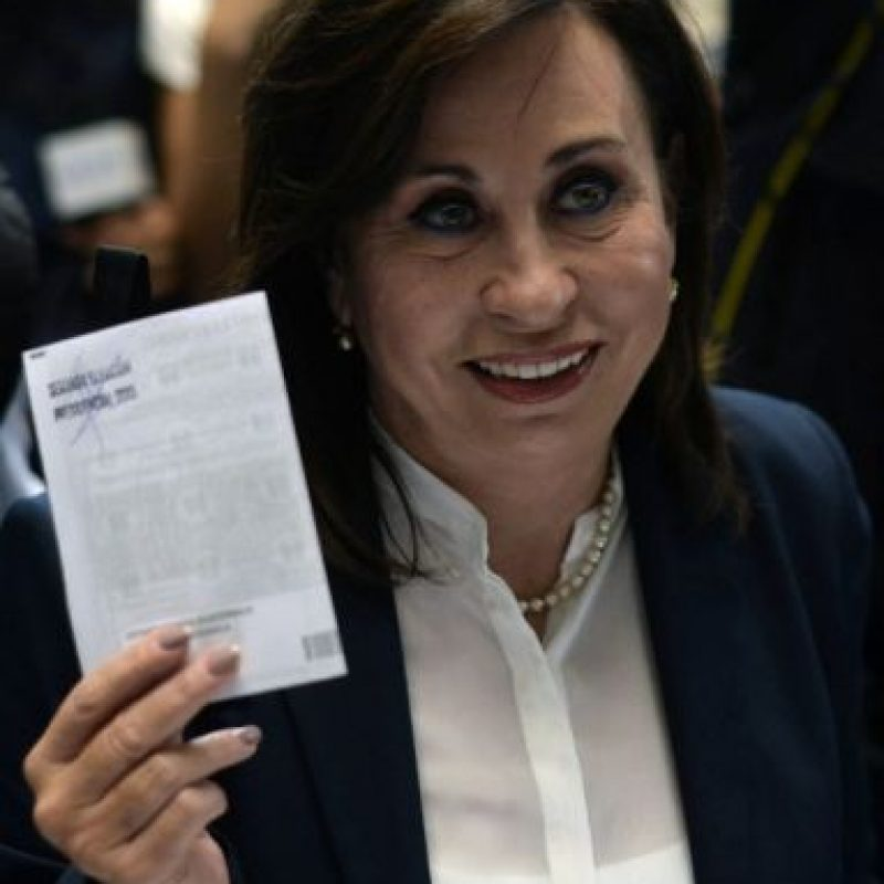 La candidata Sandra Torres de la Unidad Nacional de la Esperanza Foto:AFP
