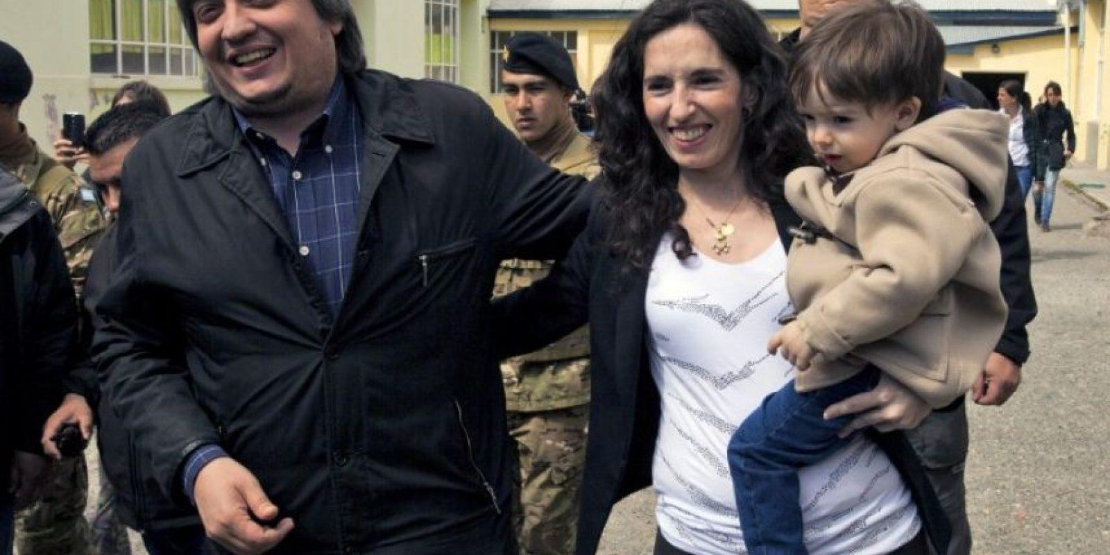 También acudió su hijo Máximo Foto:AFP