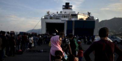 Estos evitaron que se ahogara en el Mar Egeo, parte del mar Mediterráneo. Foto:AFP