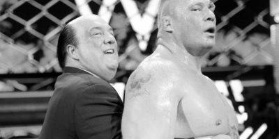 """Al final, la """"Bestia"""" se impuso con un golpe bajo y un """"F-5"""" Foto:WWE"""