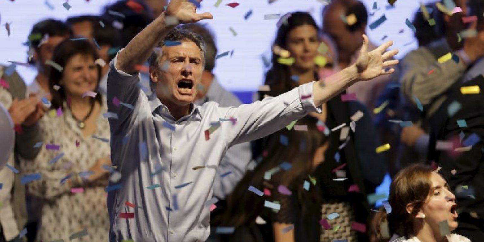 """Mauricio Macri, candidato presidencial de la alianza electoral """"Cambiemos"""", fue la gran sorpresa de la primera vuelta electoral celebrada el domingo 25 de octubre. Foto:AP"""