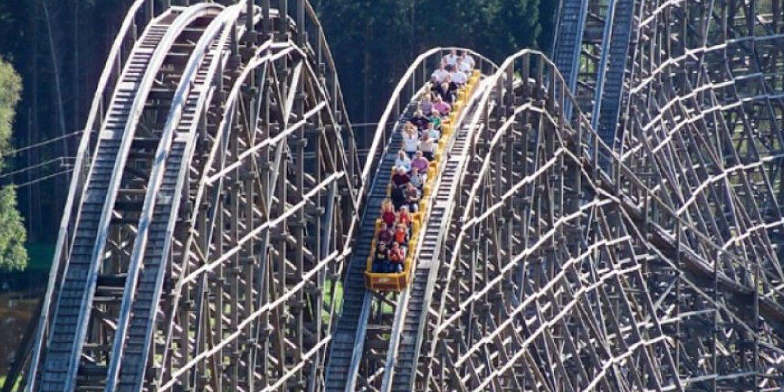 Está construida mayormente de madera. Foto: www.heide-park.de