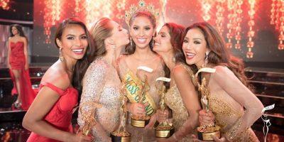 Anea (al centro) junto a las finalistas del concurso Foto:Facebook/MissGrandInternational