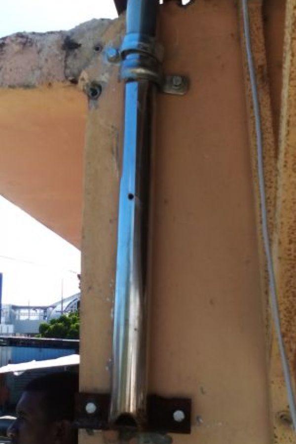 Lugar donde se encontraba la antena sujetada.