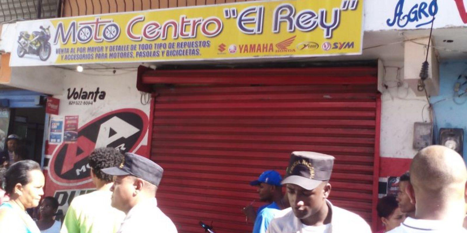 """Moto Centro """"El Rey"""", negocio donde trabajaban los jóvenes."""
