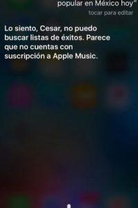 Así responde Siri cuando le preguntan sobre música. Foto:Especial