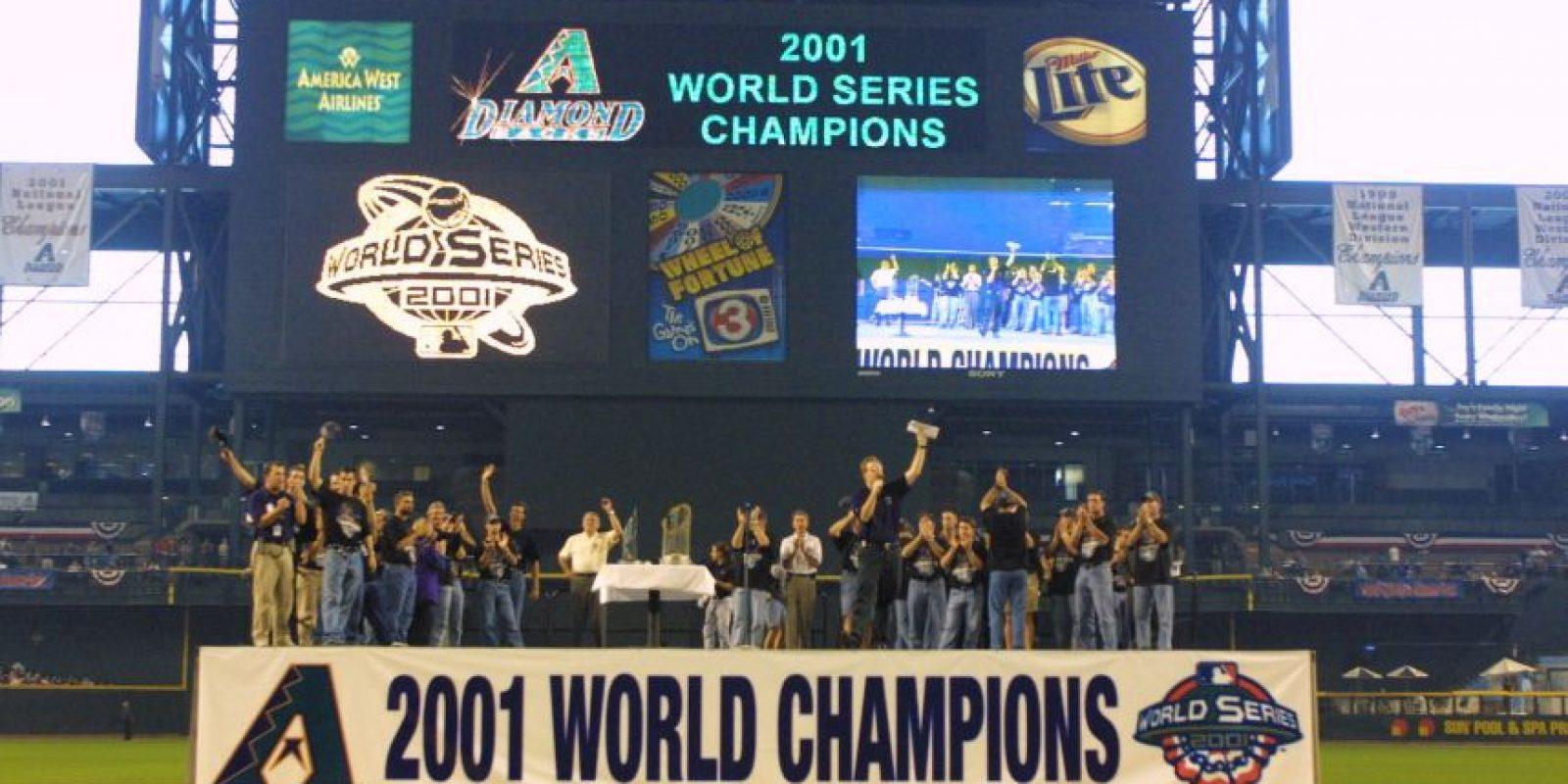 2001 – Diamondbacks de Arizona / Vencieron a los Yankees de Nueva York en siete juegos. Foto:Getty Images