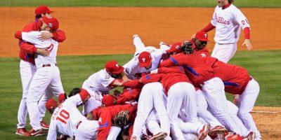 2008 – Phillies de Philadelphia / Vencieron a los Rays de Tampa Bay en cinco juegos. Foto:Getty Images