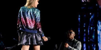 Esta ocasión, la cantante se presentó en Miami y estuvo acompañada de Ricky Martin Foto:Getty Images
