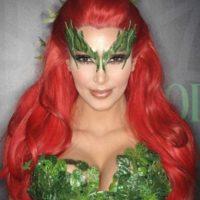 En su outfit incluyó una peluca roja y un vestido con aplicaciones que simulaban plantas. Foto:Getty Images
