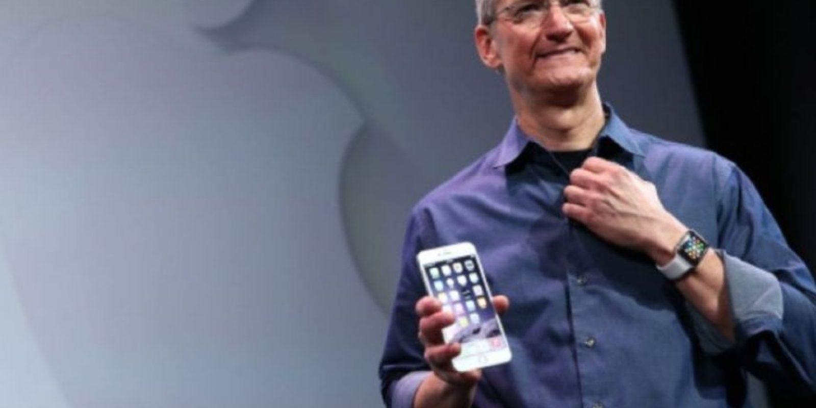 Tim Cook presentó el iPhone 6 y iPhone 6 Plus el 9 de septiembre de 2014. Foto:Getty Images