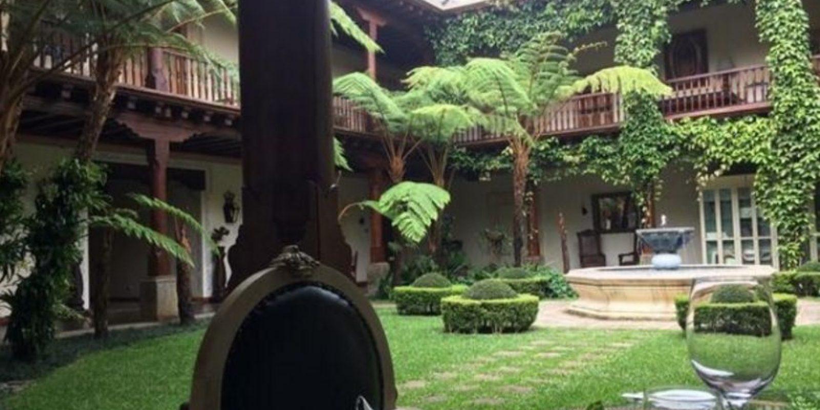 Aunque ahora es un hotel, se trata de una mansión construida entre 1541 y 1543 la cual sirvio de residencia de Doña Leonor, la hija del conquistador Español don Pedro de Alvarado y la Princesa India Tlaxcala llamada Tecuilhuatzin, Doña Luisa. Foto:twitter.com/Aletsandros