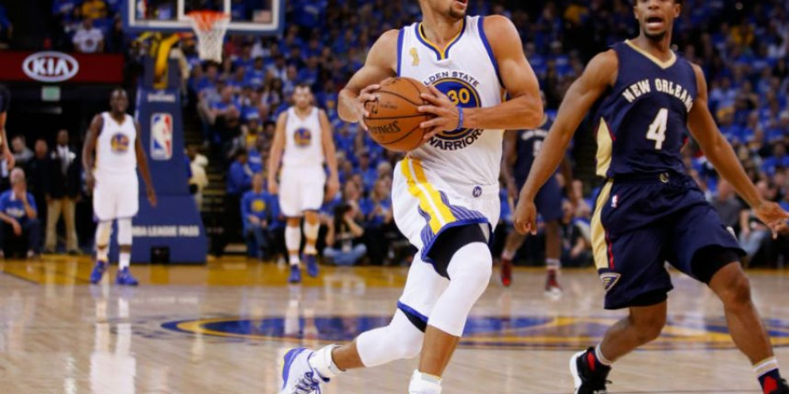 Se trata del mágico Stephen Curry Foto:Getty Images