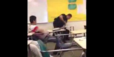 Los testigos aseguran que la estudiante inició el mal momento. Foto:Vía Youtube