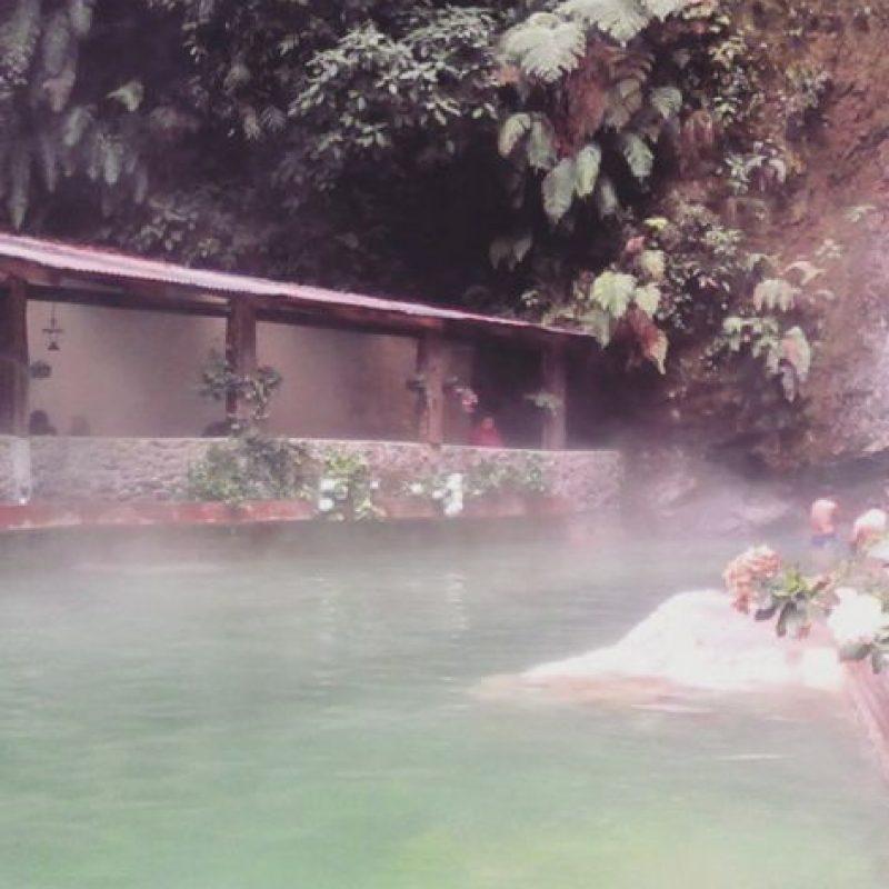 2- Las aguas termales Georginas están en el departamento de Quetzaltenango. Foto:instagram.com/sucely_osorio