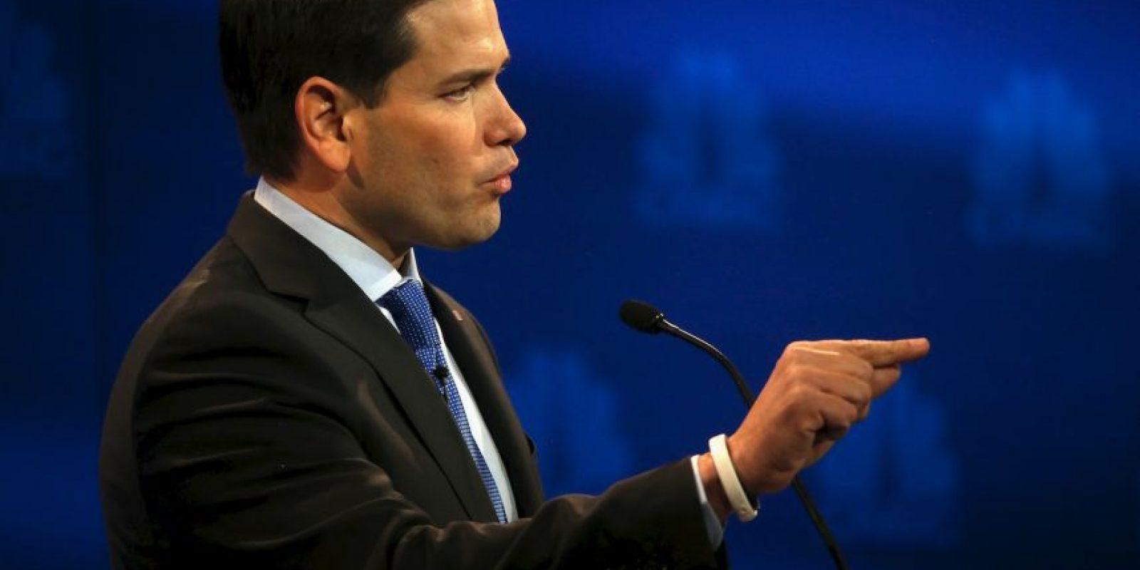 Marco Rubio se defendió de los ataques de Jeb Bush. Foto:Getty Images