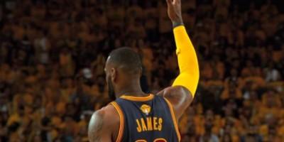 LeBron jugó sin molestias de su espalda