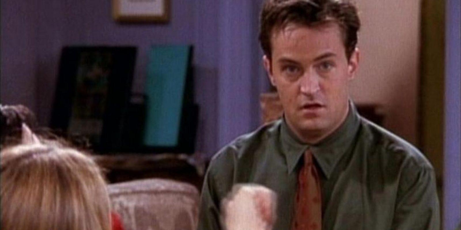 """Probablemente más conocido Chandler Bing de la serie """"Friends"""" Foto:Vía NBC"""