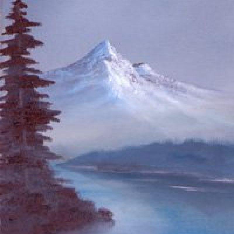 Paso 8: Con un pincel abanico añada la base de un árbol. Foto:vía Facebook/The Joy of Painting