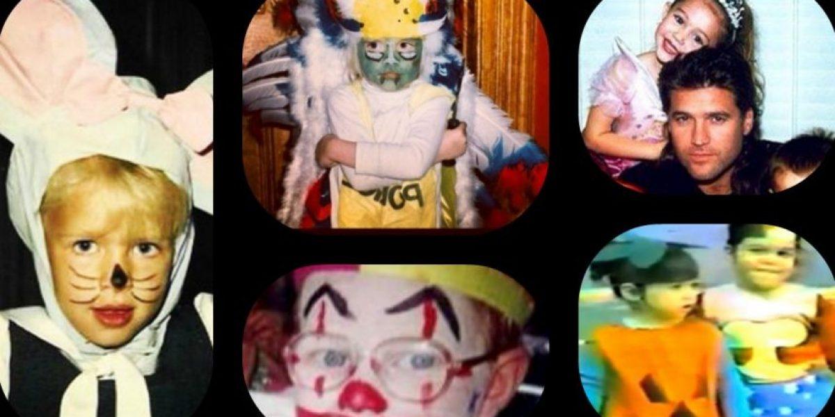 Halloween: ¿Los reconocen? Así se disfrazaban los famosos cuando eran niños