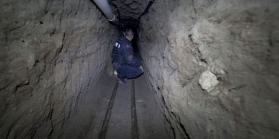 El narcotraficante se fue por un túnel. Foto:AP