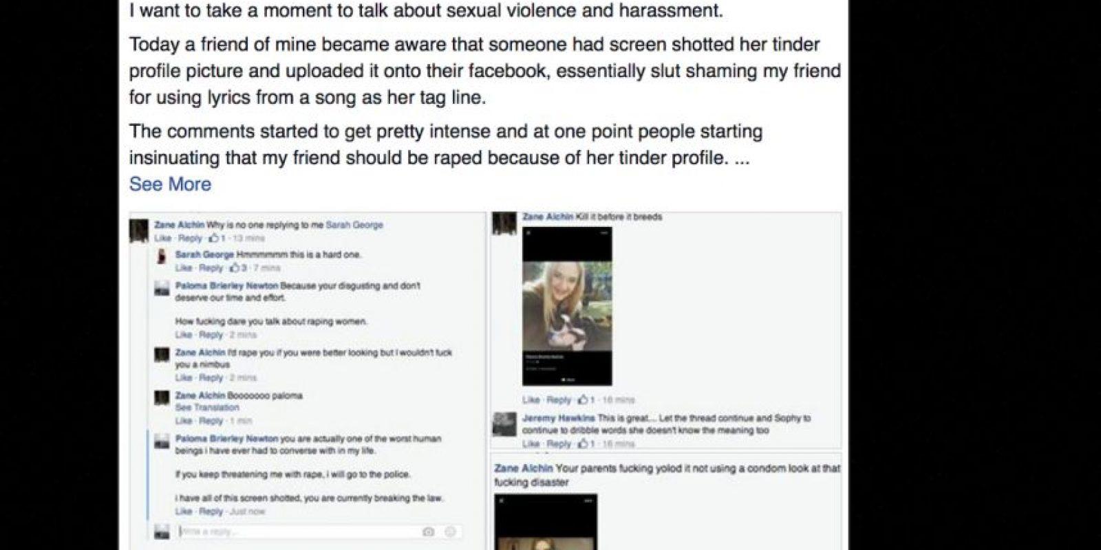 Otra de sus amigas creó un grupo para defenderla. Foto:vía Facebook