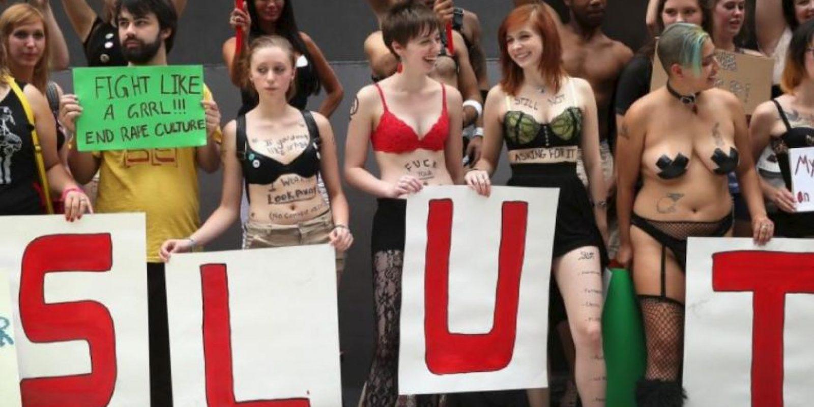 """Se creó en 2011 y en Latinoamérica se le conoce como """"La Marcha de las Putas"""". Foto:vía Getty Images"""