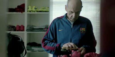 Los vestidores del Barcelona. Foto:FC Barcelona / YouTube