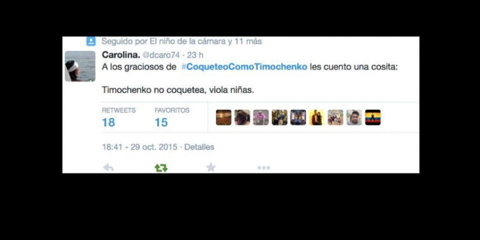Y otros recordaron la cruel política de las FARC hacia las mujeres. Foto:vía Twitter