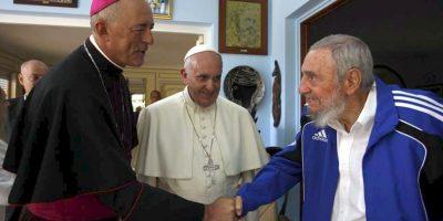 En Cuba, se reunió con el líder histórico de la revolución cubana, Fidel Castro Foto:AFP
