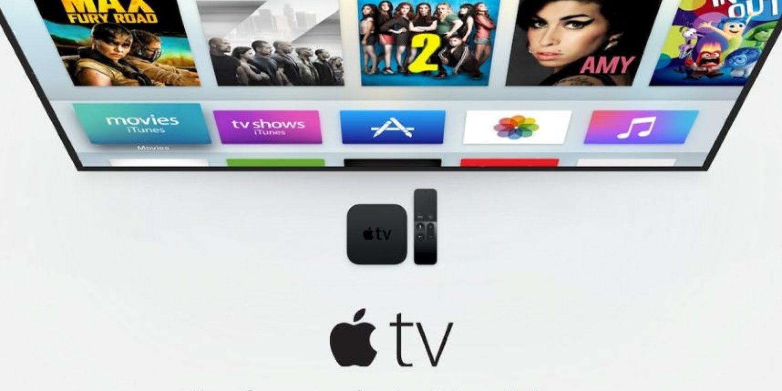 Apple TV se promociona como el futuro de la televisión. Foto:Apple
