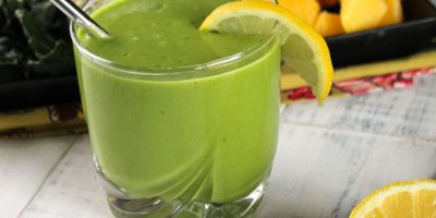 Batido verde de mango