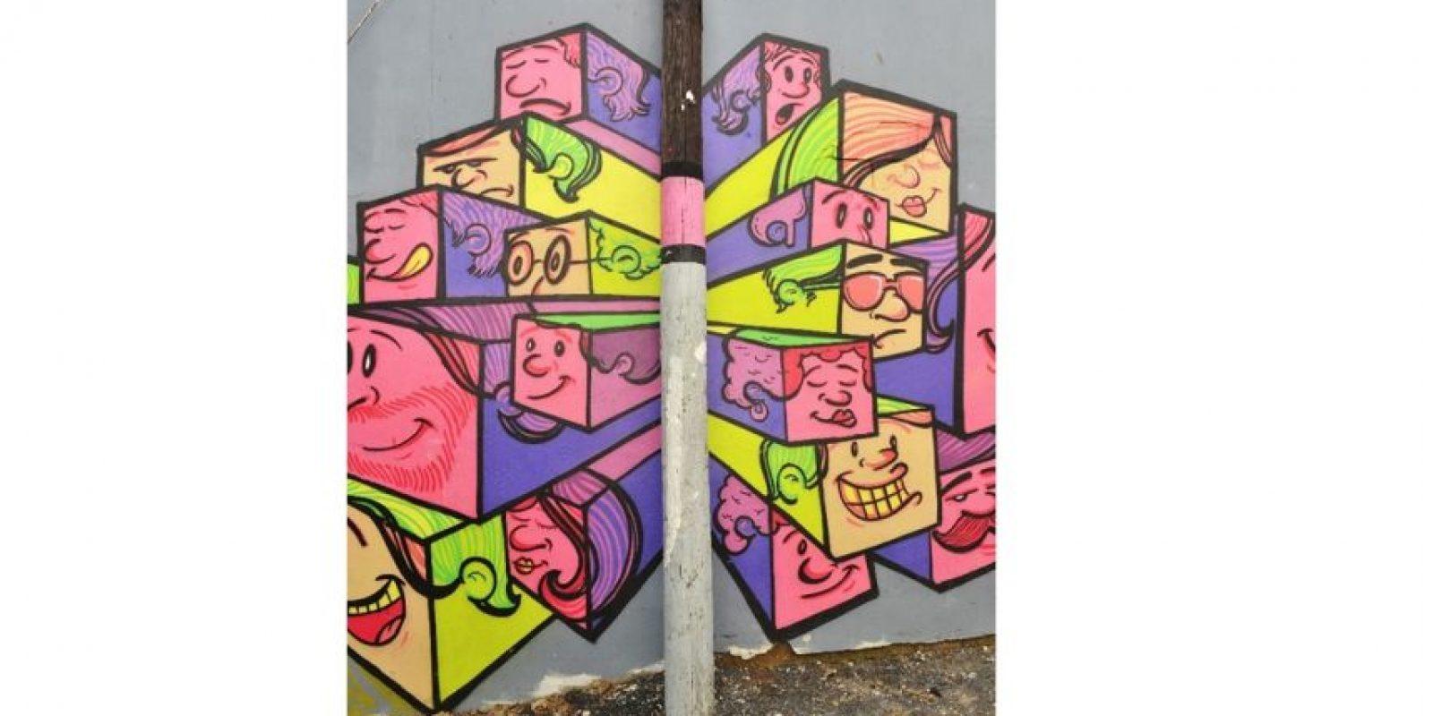 """Las creaciones de """"Pote Leche"""" dicen presente en MuralizandoRD. Foto:Mario de Peña"""