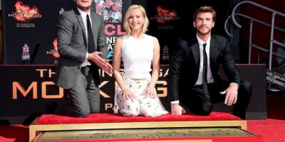 Jennifer Lawrence, Josh Hutcherson y Liam Hemsworth dejaron su marca en este icónico lugar. Foto:Getty Images