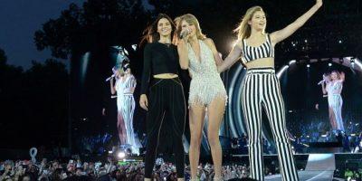 Kendall, Taylor y Gigi Hadid. Foto:Getty Images