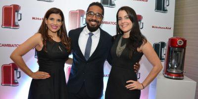 Catherine Leyba, Miguel Terrero y Sophia Costabal, ejecutivos de KitchenAid.