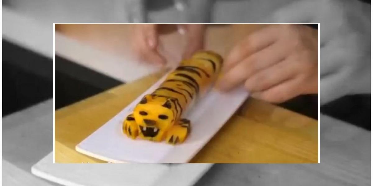 ¿Alguna vez imaginaste un sushi con forma de tigre?
