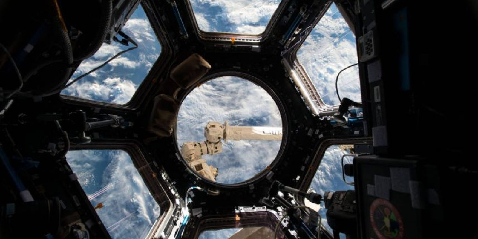"""Así se ve la Tierra desde una de las """"oficinas"""" espaciales. Foto:Vía nasa.gov"""
