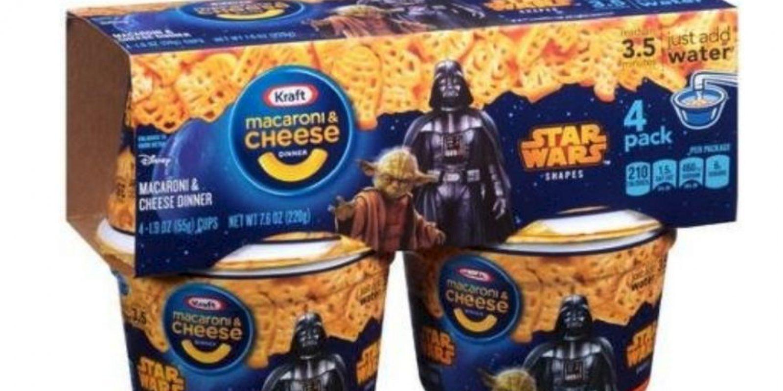 """Macarrones con queso """"Easy Mac"""" edición """"Star Wars"""" Foto:Kraft"""