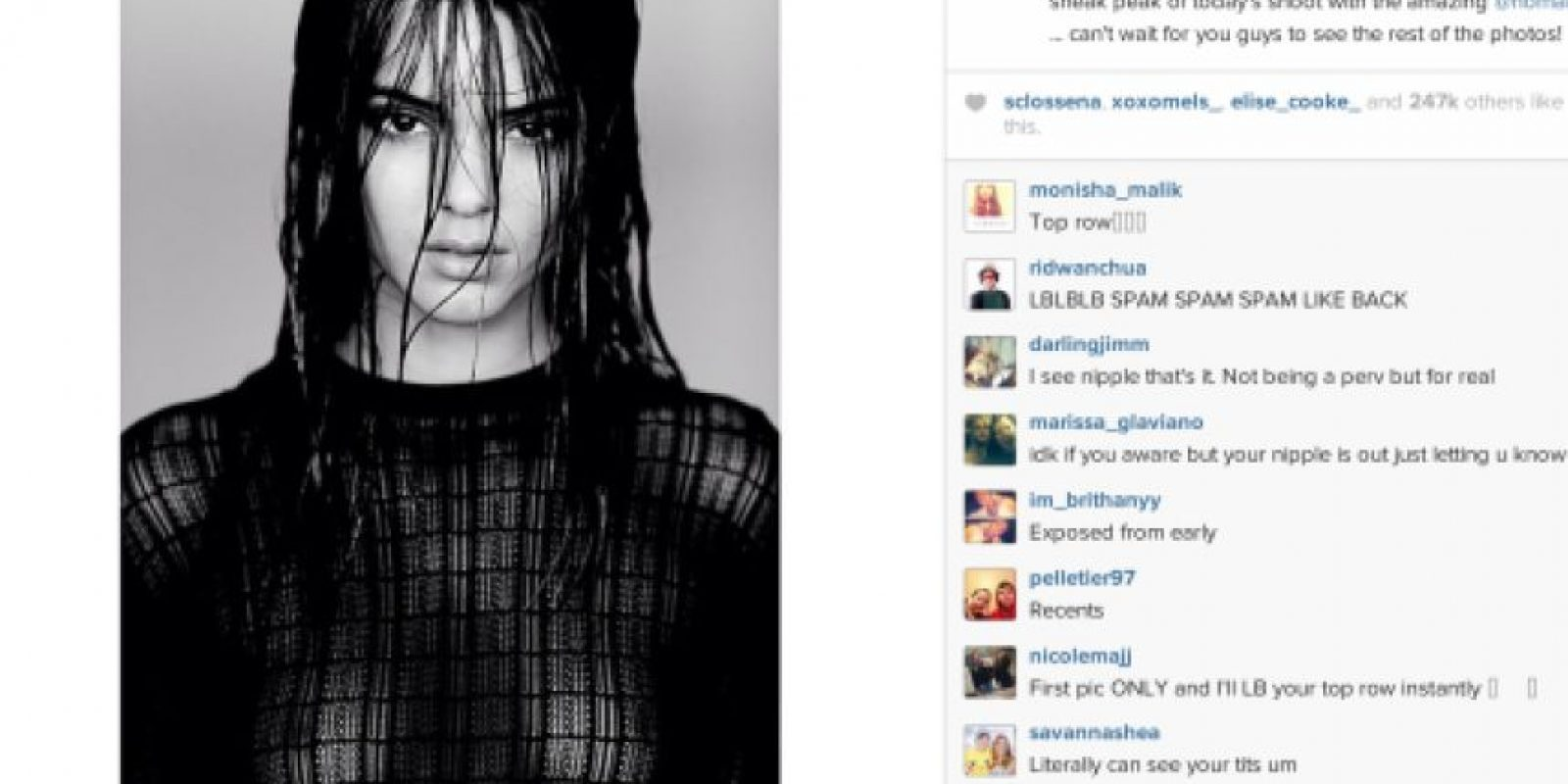 Esta imagen había recibido miles de likes, pero Kendall Jenner decidió eliminarla. Foto:vía instagram.com/kendalljenner