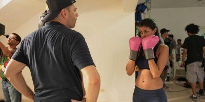En el set de la película Ladrones. Tuvo que tomar entrenamientos de boxeo para las tramas de acción. Foto:Fuente Externa