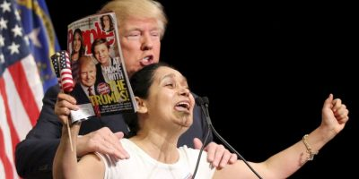 "Recientemente Trump presentó su libro ""Crippled América"". Foto: Getty Images"