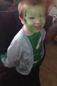 Este es el pequeño Mason Foto:Vía Facebook/Jimthetrim254britonferry