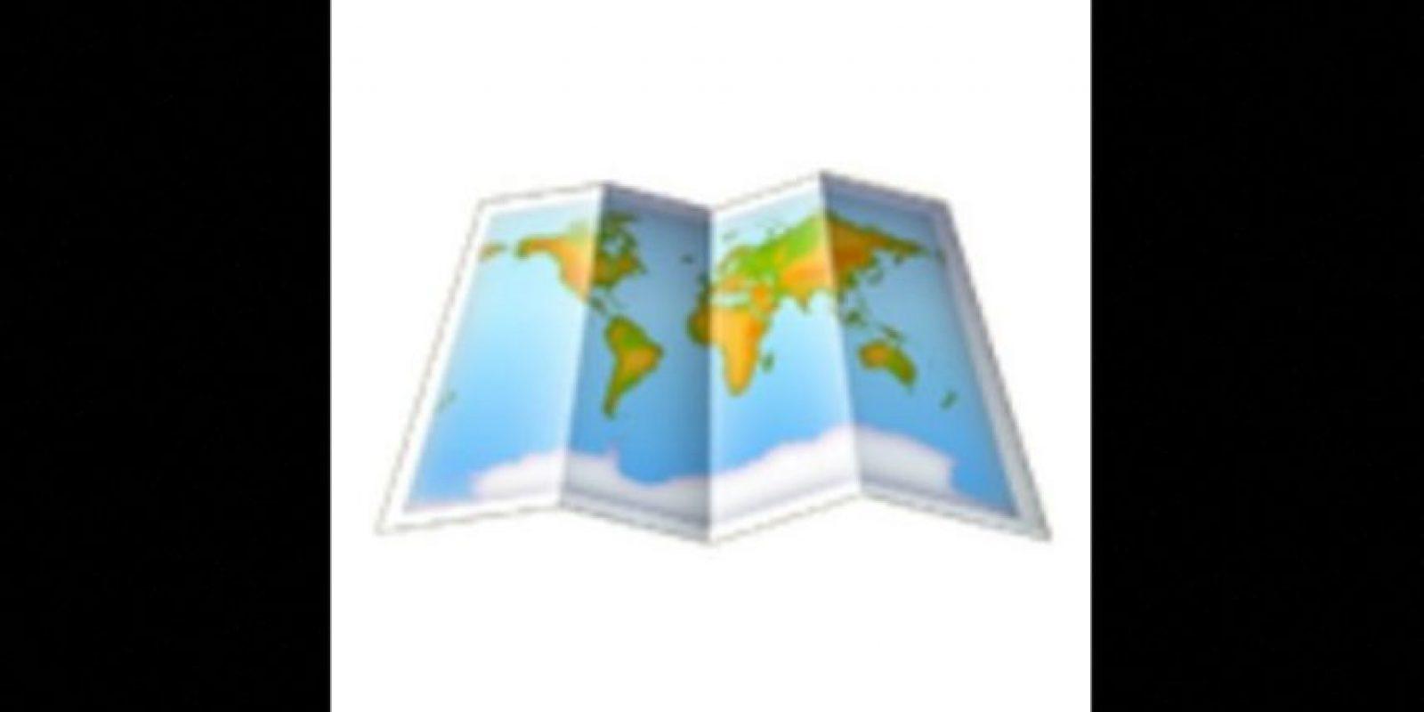 El mapa Foto:Vía emojipedia.org