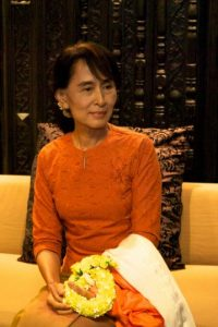 Resultó elegida como representante al parlamento birmano en 2012. Foto:Wikicommons