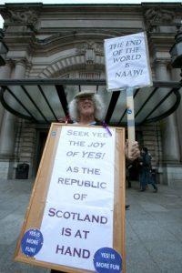 """La agrupación política """"Scotland Yes"""" fue la primera representante de la campaña por el """"Sí"""" Foto: Getty Images"""