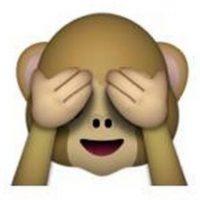"""Es uno de los tres monos sabios, parte de un proverbio budista, que en este caso es: """"No voy a ver el mal"""". Utilizado para: """"No quiero ver eso"""". Foto:Pinterest"""