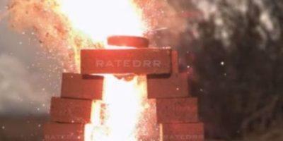 7- Explotó cuando fue incendiado. Foto:Rated RR / YouTube