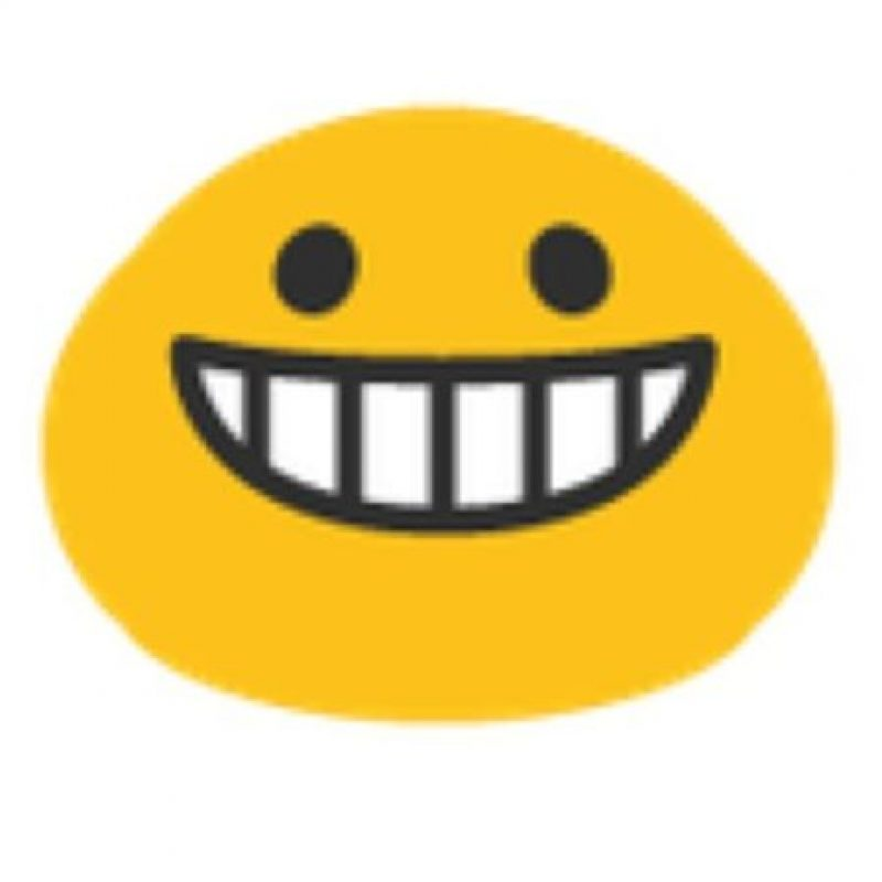 Felicidad en Android. Foto:vía emojipedia.org