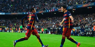 Neymar y Luis Suárez Foto:Getty Images